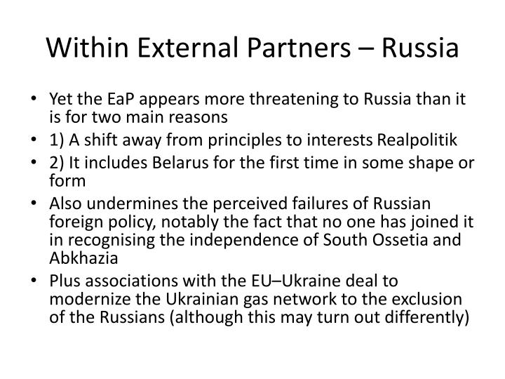 Within External Partners – Russia