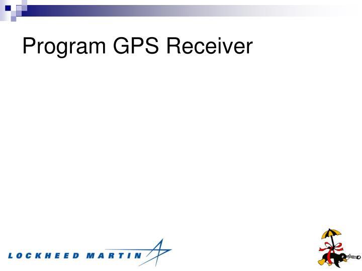 Program GPS Receiver