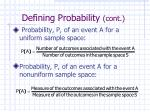 defining probability cont