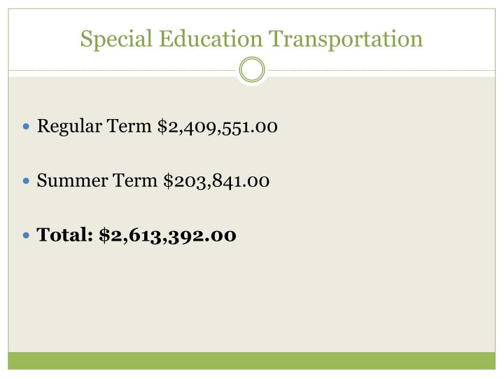 Special Education Transportation