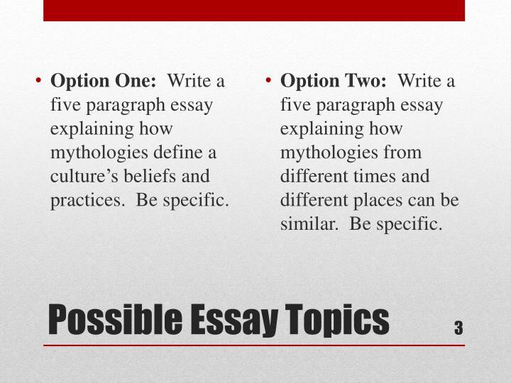 Option One: