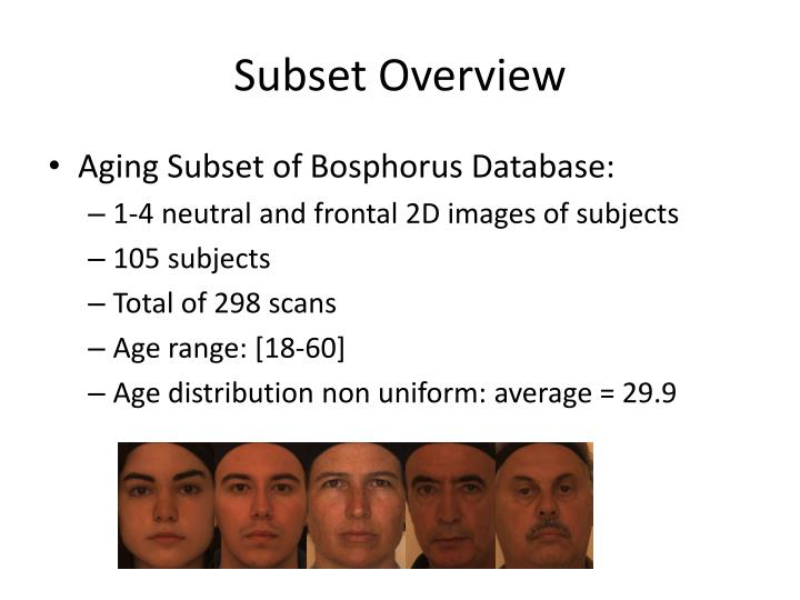 Subset overview