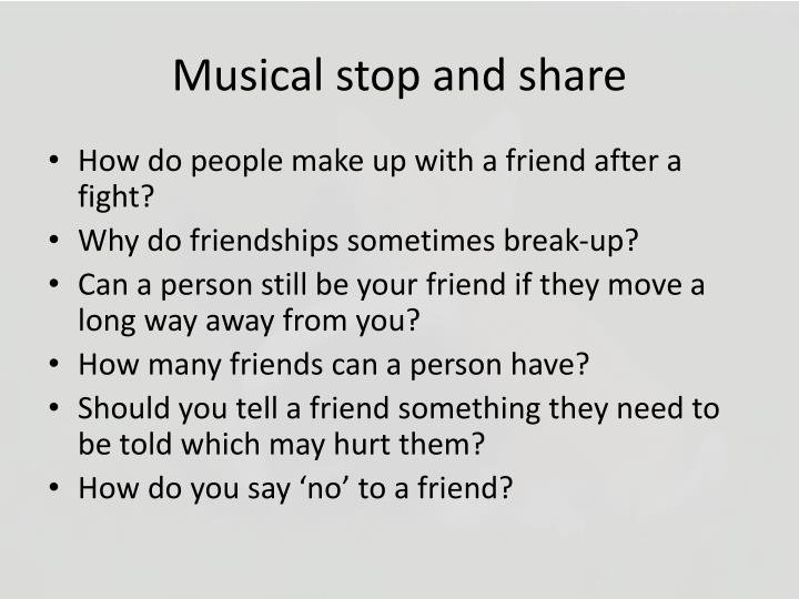 Musical stop and share
