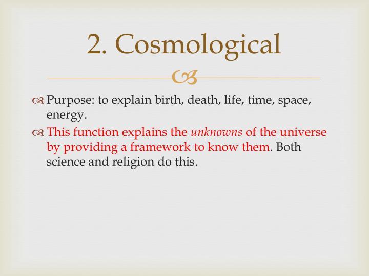 2. Cosmological
