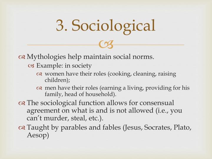 3. Sociological