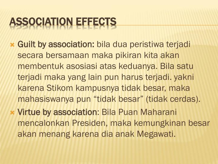 Association effects