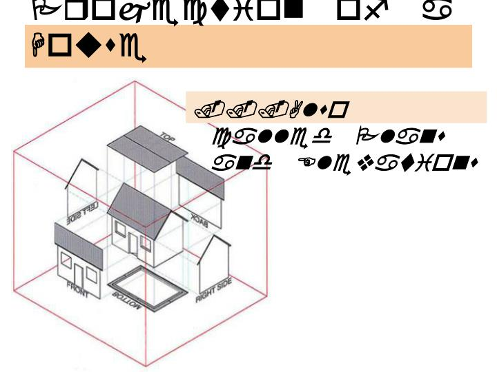 Orthographic Projection of a House