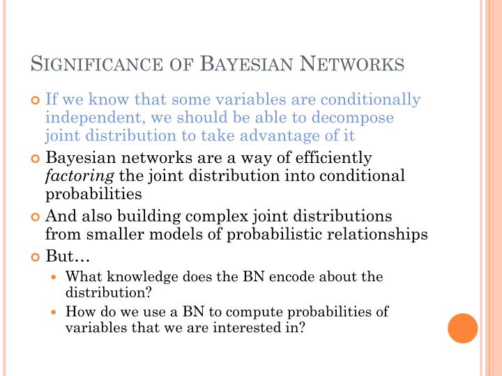 Significance of Bayesian Networks