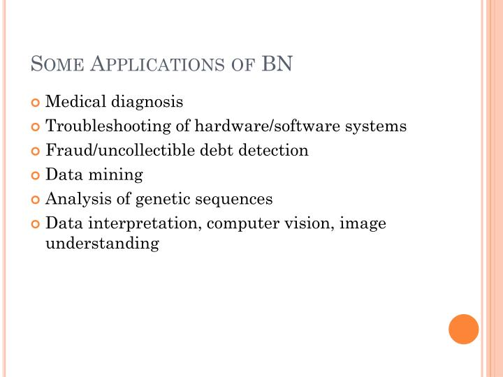 Some Applications of BN