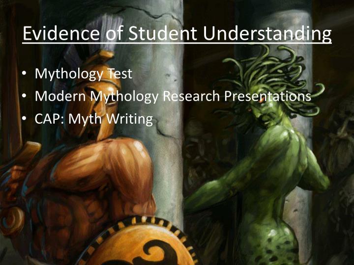 Evidence of Student Understanding