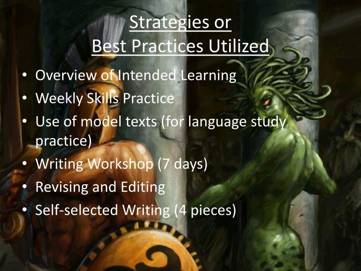 Strategies or