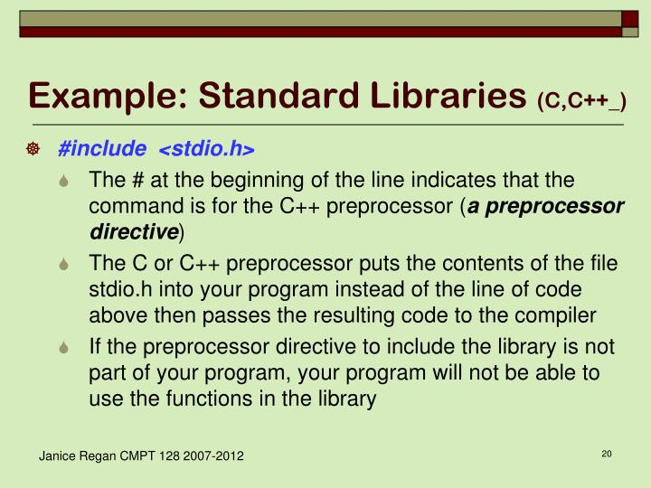 Example: Standard Libraries