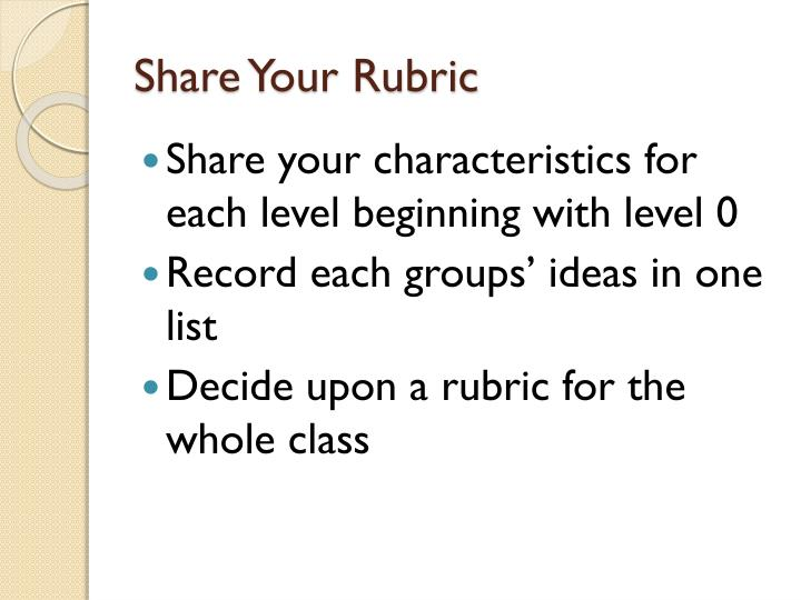 Share Your Rubric