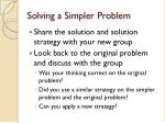 solving a simpler problem1