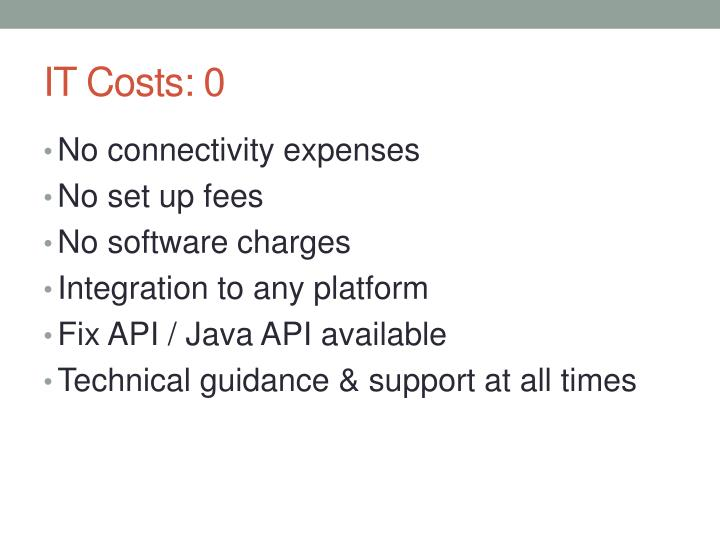 IT Costs: 0