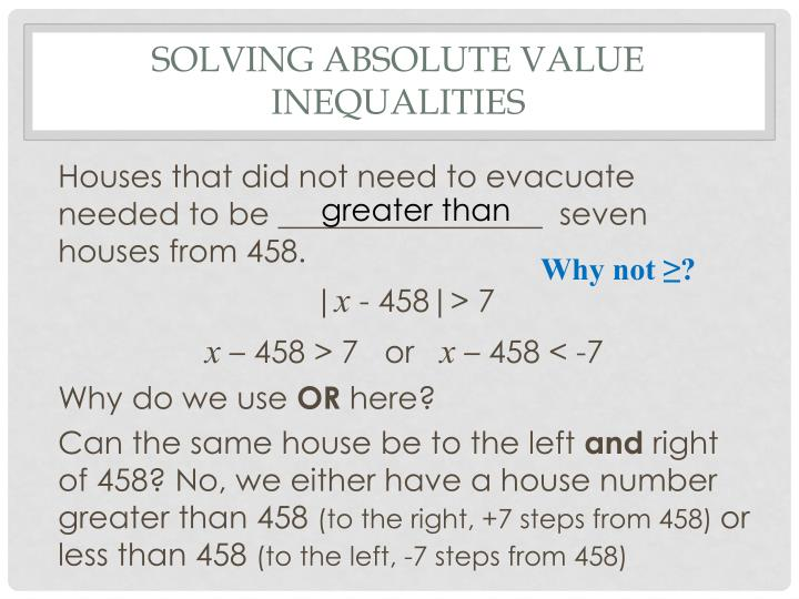 Solving Absolute Value Inequalities