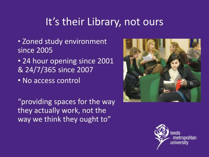 It's their Library, not ours