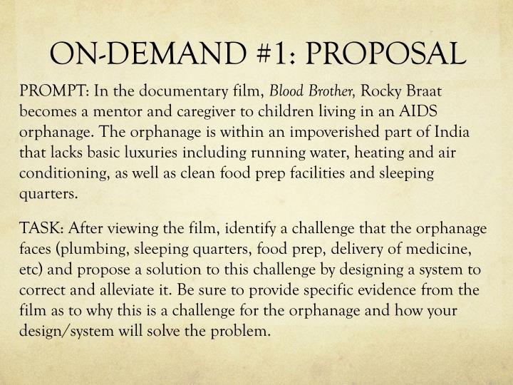 ON-DEMAND #1: PROPOSAL