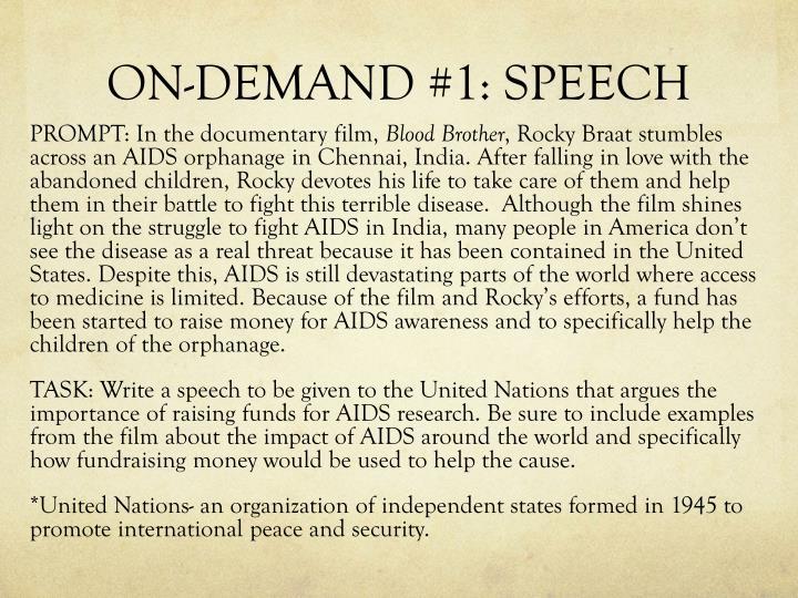 ON-DEMAND #1: SPEECH