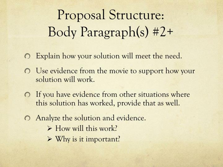Proposal Structure: