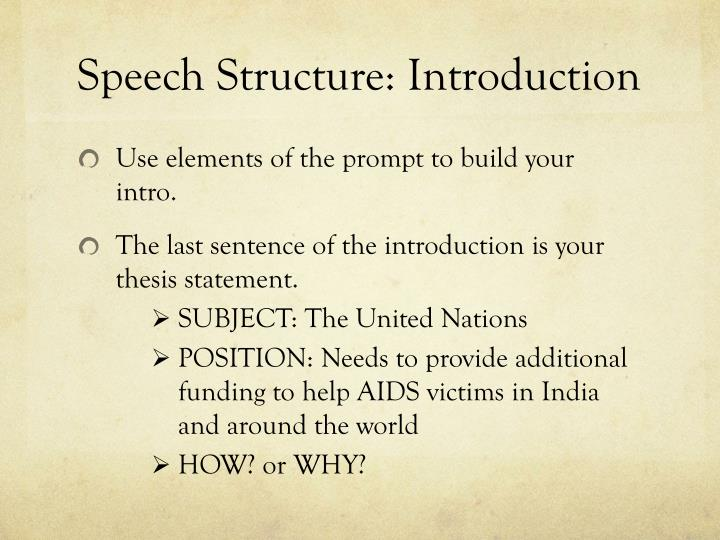 Speech Structure: Introduction