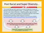 post racial and super diversity