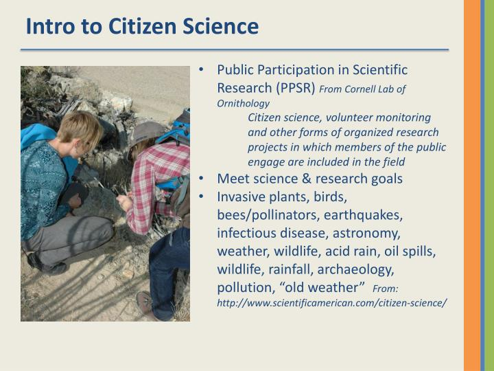 Intro to Citizen Science