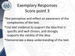 exemplary responses score point 3