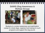 dawg dog awareness welfare group