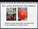 sri lanka alzheimer foundation