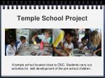 temple school project