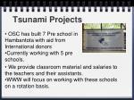 tsunami projects