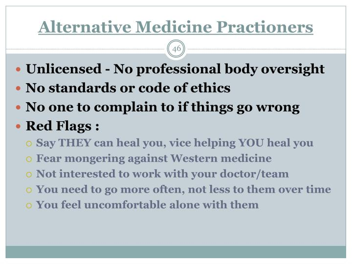 Alternative Medicine Practioners