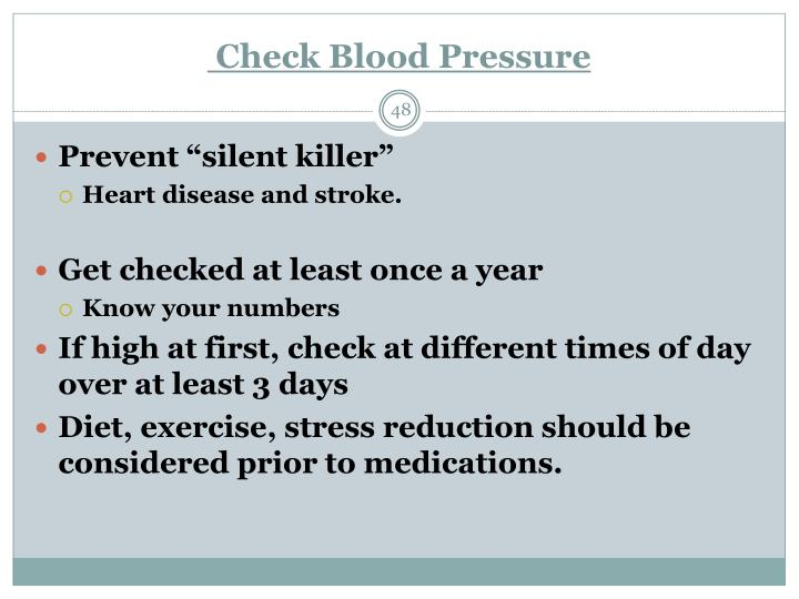 Check Blood Pressure