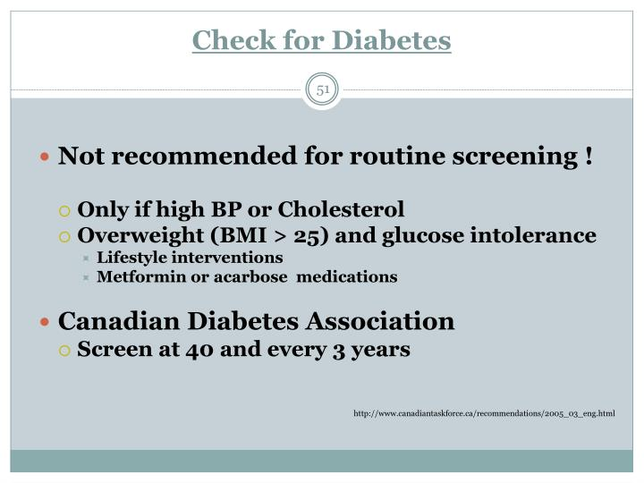 Check for Diabetes