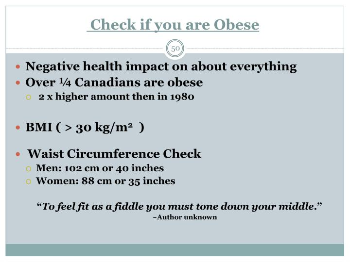 Check if you are Obese