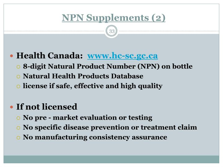 NPN Supplements (2)