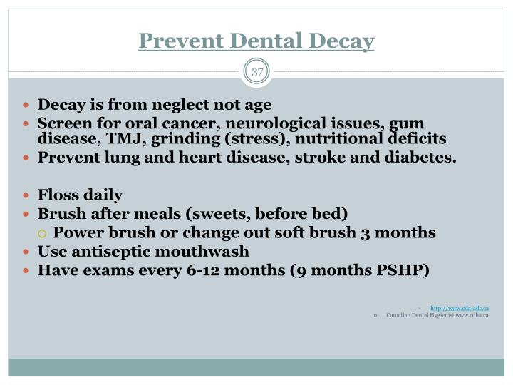 Prevent Dental Decay