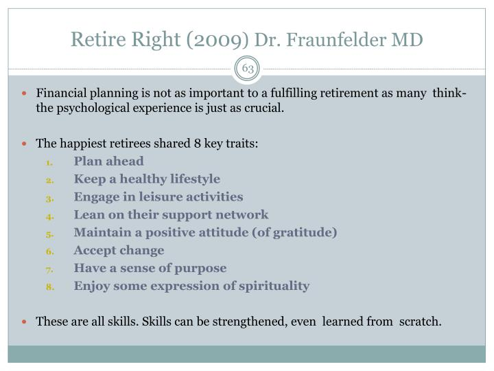 Retire Right (2009