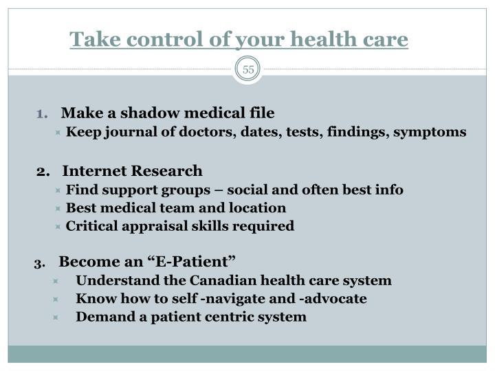Take control of your health care