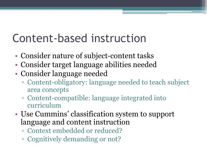 Content-based instruction