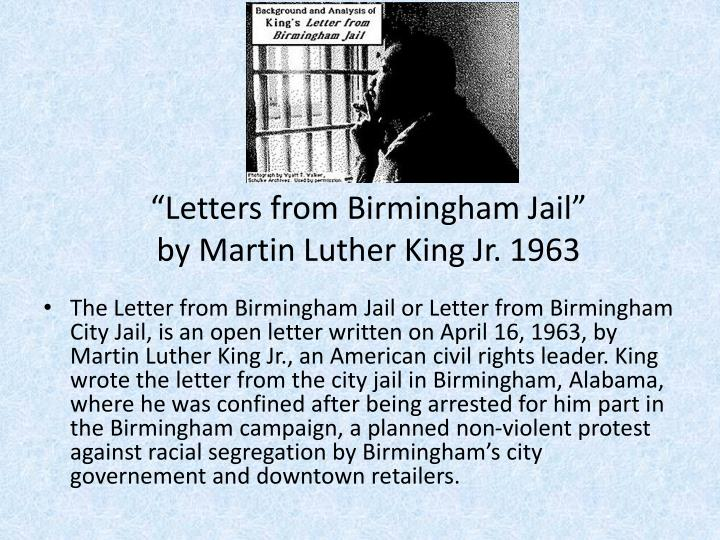 """Letters from Birmingham Jail"""