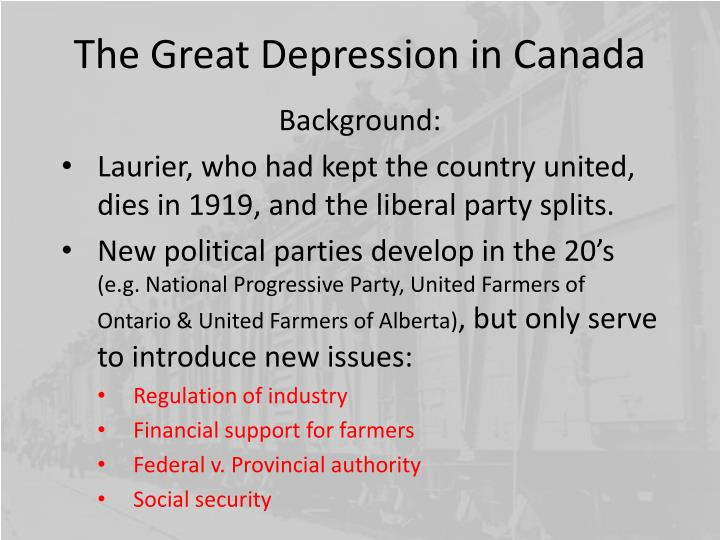 The great depression in canada1