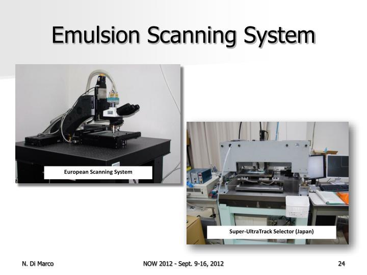 Emulsion Scanning System