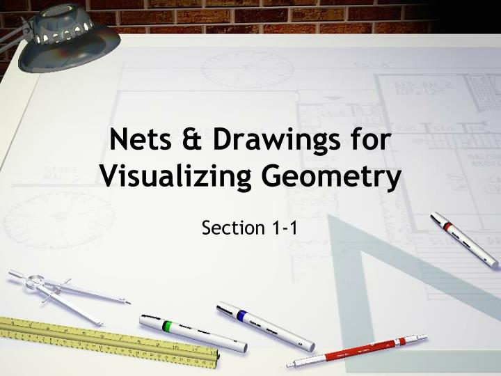 Nets drawings for visualizing geometry