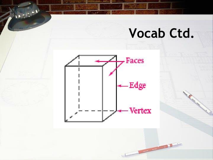 Vocab Ctd.