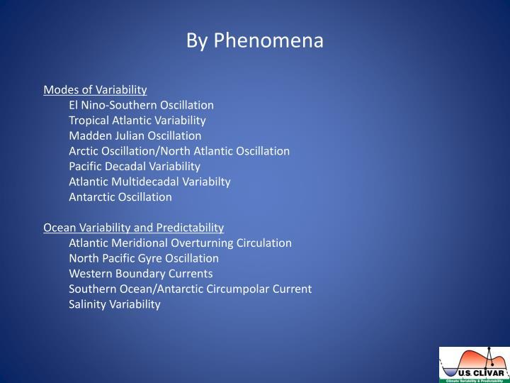 By Phenomena