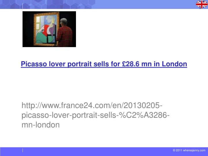Picasso lover portrait sells for £28.6