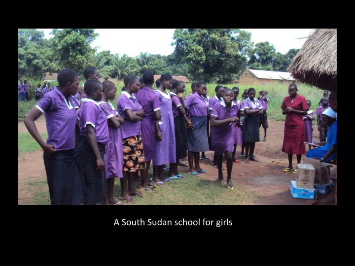 A South Sudan school for girls
