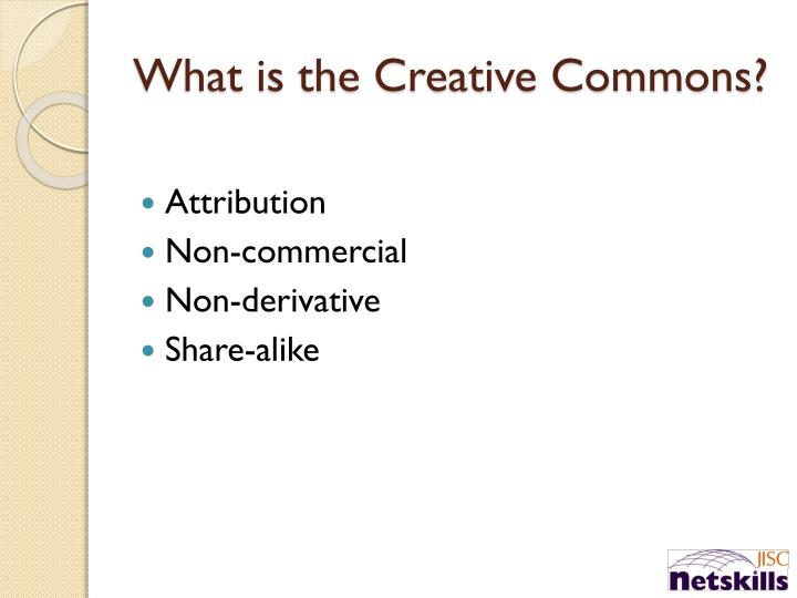 What is the Creative Commons?